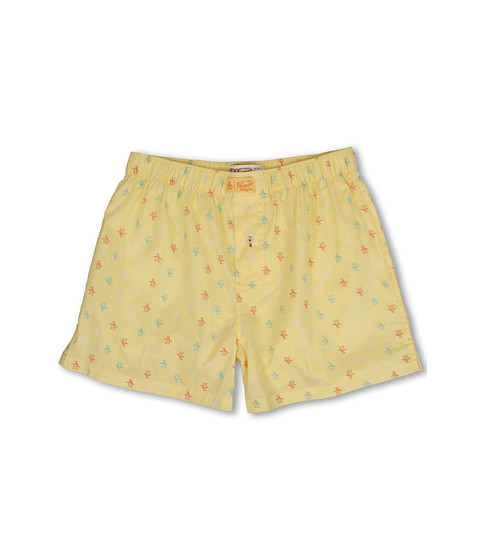 Original Penguin - Penguin Woven Boxer (Lemon) Men's Underwear