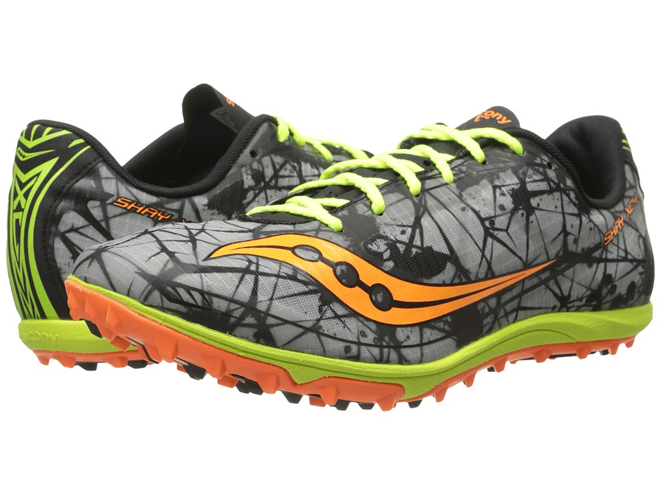 Saucony - Shay XC4 Flat (Vizi Orange/Citron/Grey) Men's Running Shoes
