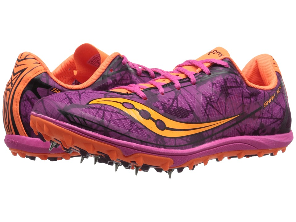 Saucony - Shay XC4 Spike (Raspberry/Vizi Orange) Women's Shoes