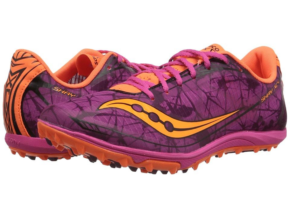 Saucony - Shay XC4 Flat (Raspberry/Vizi Orange) Women's Running Shoes