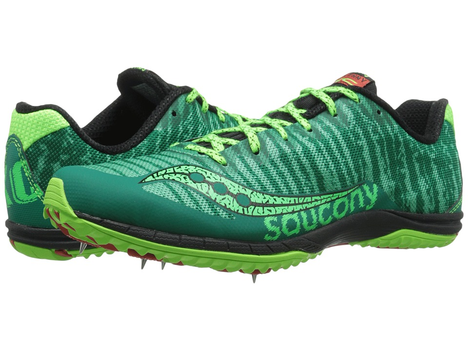 Saucony - Kilkenny XC5 (Spike) (Green/Citron) Men's Running Shoes