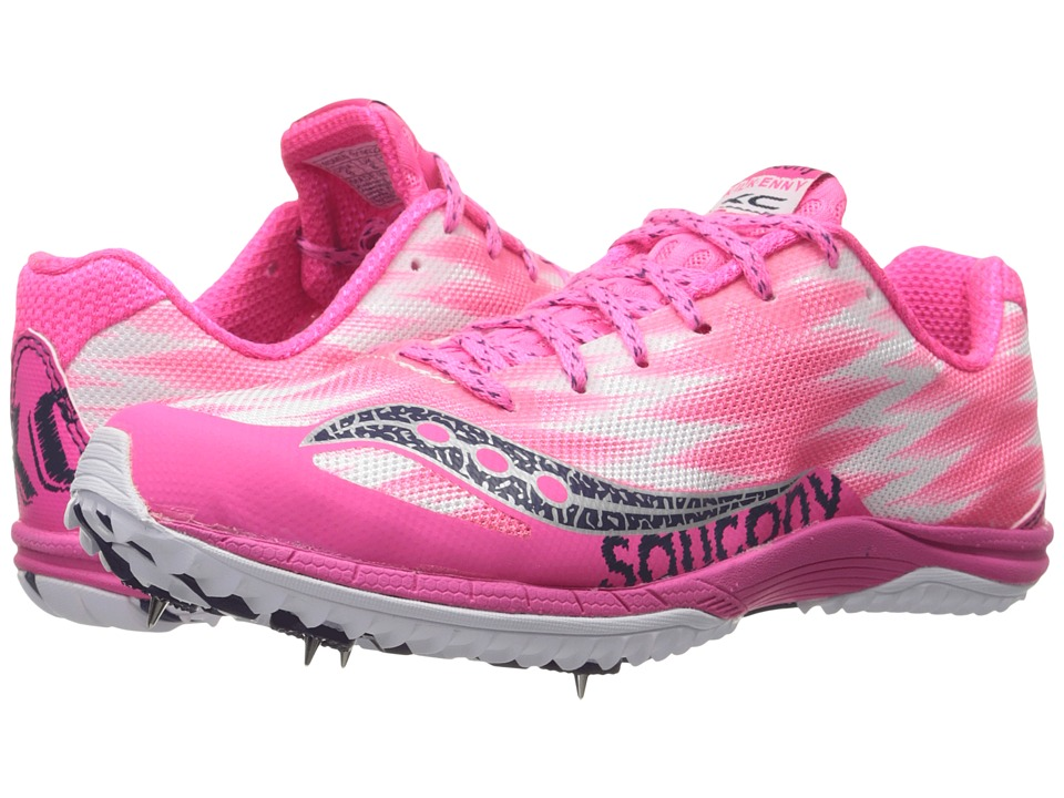 Saucony - Kilkenny XC5 (Spike) (Pink/White) Women's Running Shoes