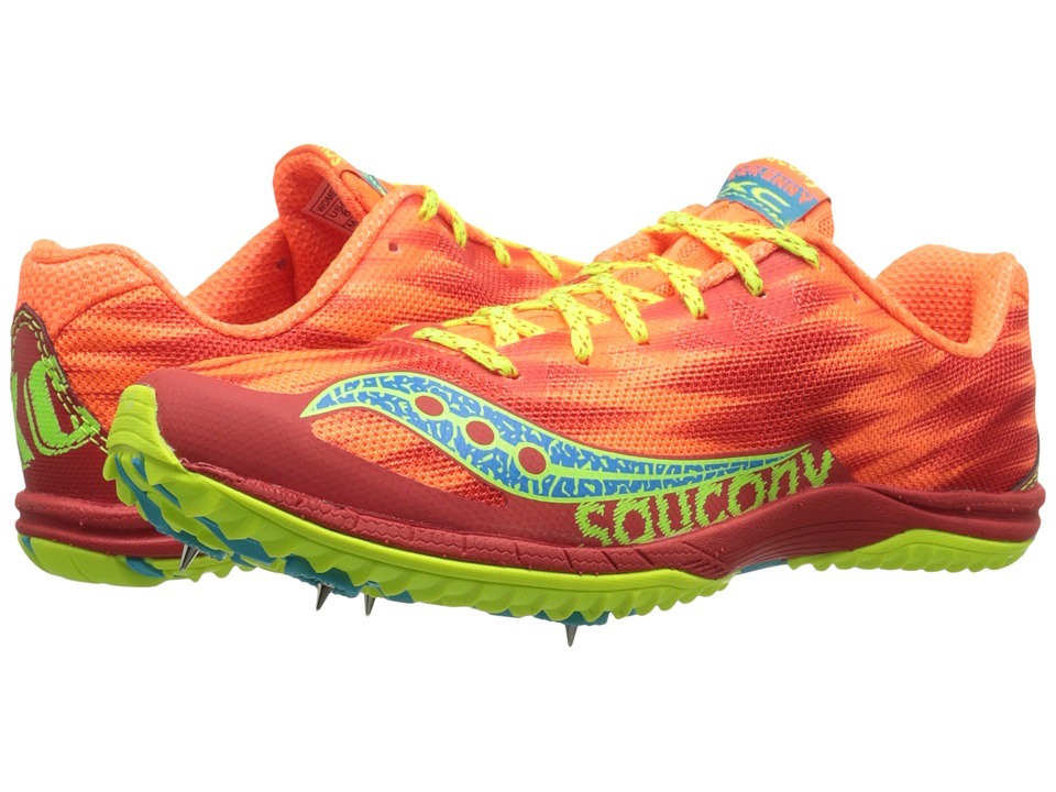 Saucony - Kilkenny XC5 (Spike) (Vizi Orange/Citron) Women's Running Shoes