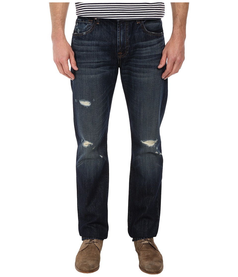 7 For All Mankind - The Straight w/ Clean Pocket in Bonzai Blue (Bonzai Blue) Men