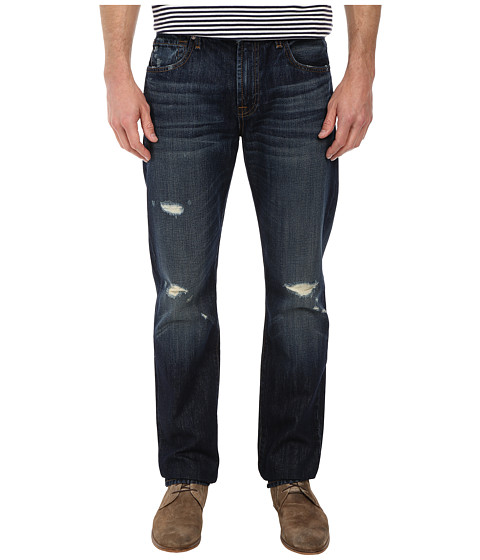 7 For All Mankind - The Straight w/ Clean Pocket in Bonzai Blue (Bonzai Blue) Men's Jeans
