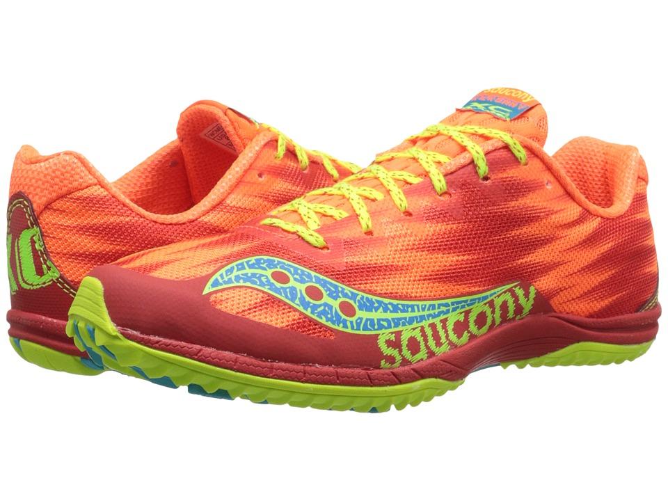Saucony - Kilkenny XC5 (Flat) (Vizi Orange/Citron) Women's Running Shoes