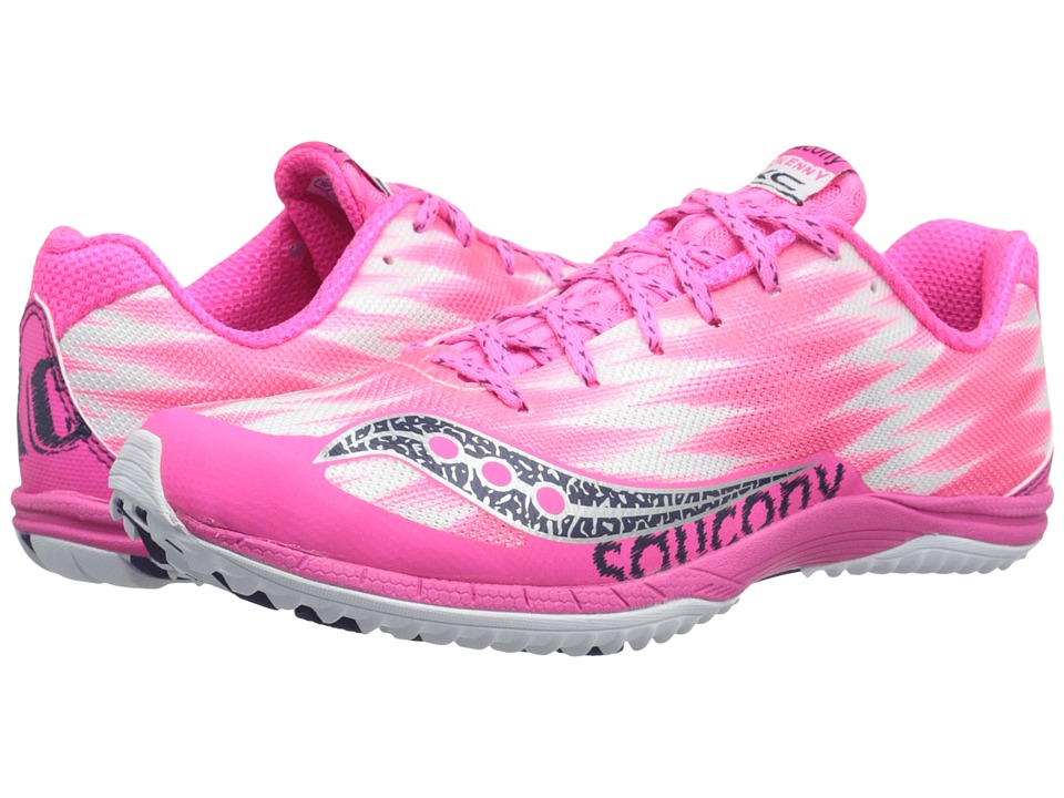 Saucony - Kilkenny XC5 (Flat) (Pink/White) Women's Running Shoes