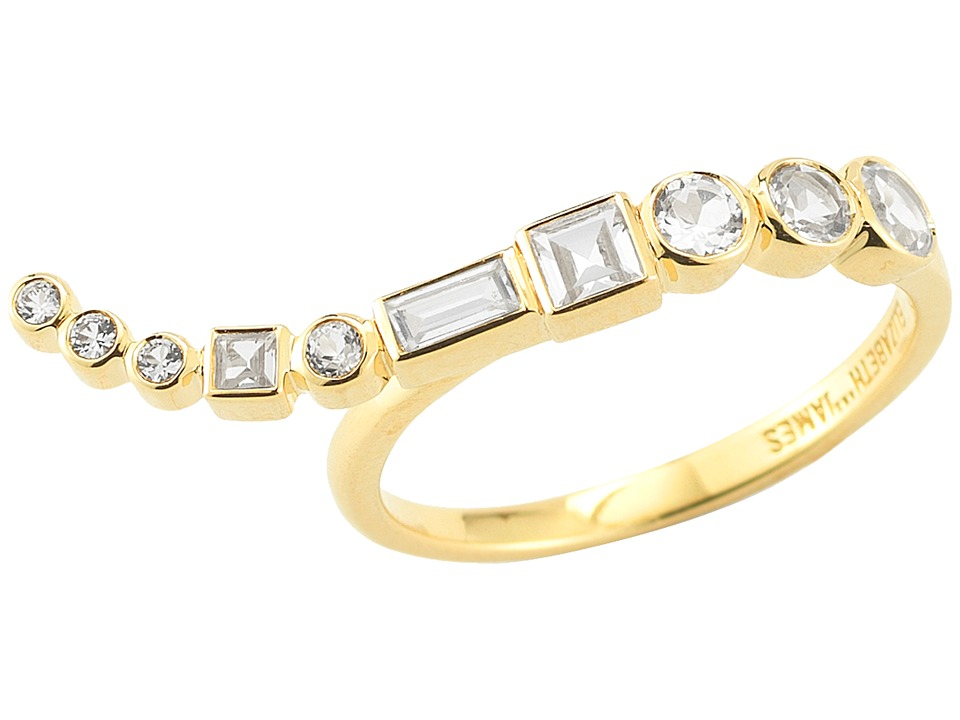 Elizabeth and James - Marisol Ring (Yellow Gold/White Sapphire/White Topaz) Ring