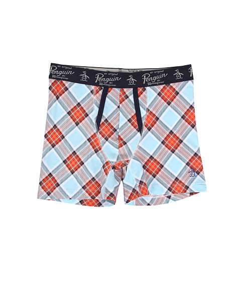 Original Penguin - Fashion Boxer Brief (Coral Plaid) Men's Underwear