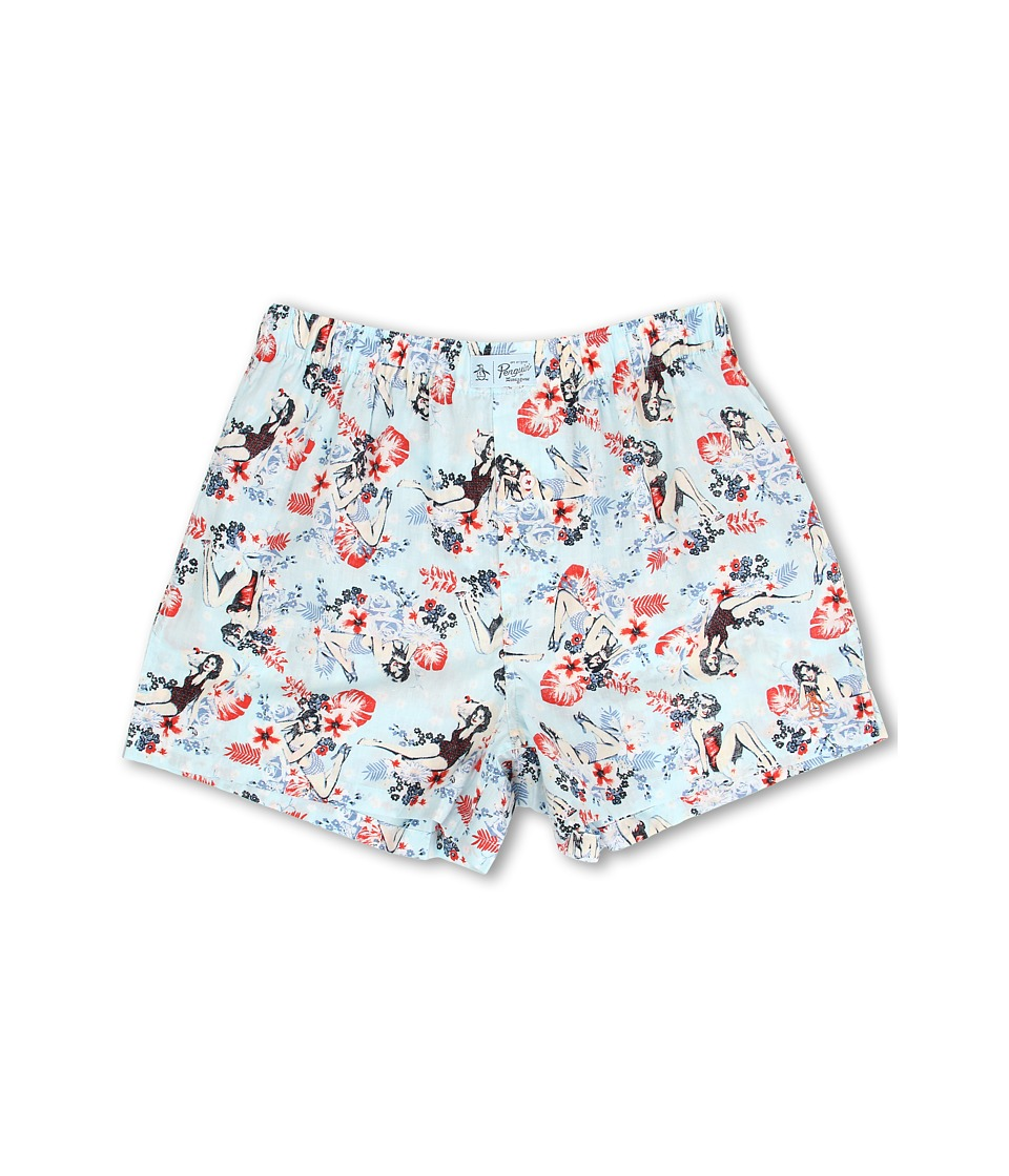 Original Penguin - Woven Boxer (Blue Pin Up) Men's Underwear