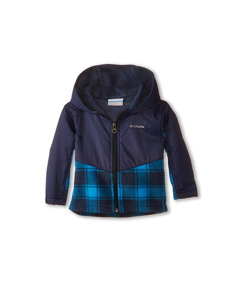 Columbia Kids - Steens Mt Overlay Hoodie (Infant) (Hyper Blue Lumberjack) Kid's Sweatshirt
