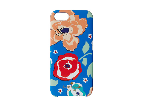 Kate Spade New York - Resin iPhone 5 April Multi Floral (Ocean Blue) Cell Phone Case