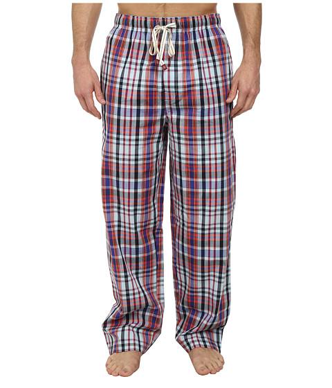 Original Penguin - Woven Pants (Navy Plaid) Men