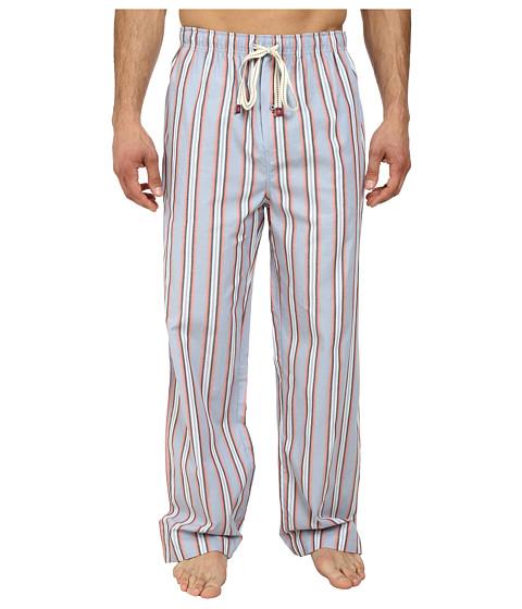 Original Penguin - Woven Pants (Coral Stripe) Men's Pajama