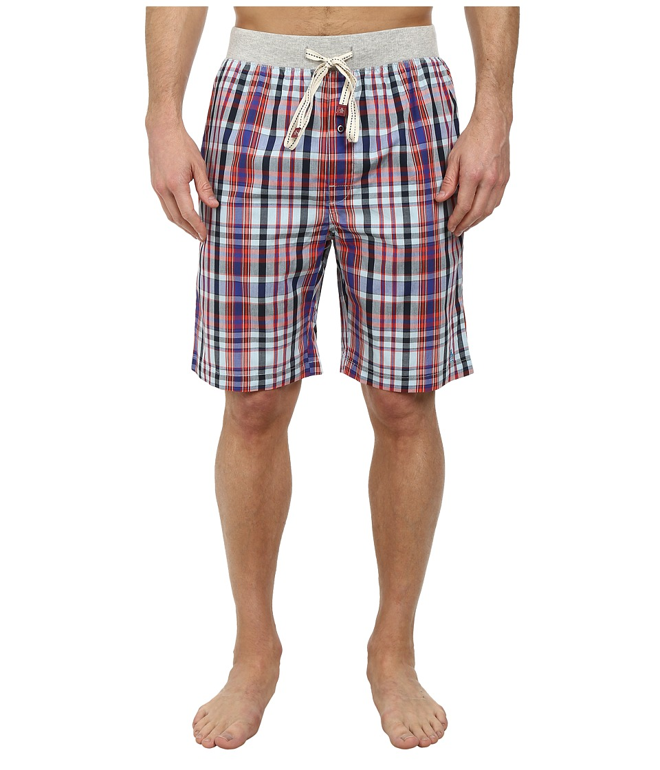 Original Penguin - Sleep Shorts (Navy Plaid) Men