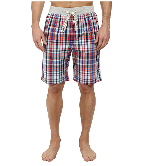 Original Penguin - Sleep Shorts (Navy Plaid) Men's Pajama