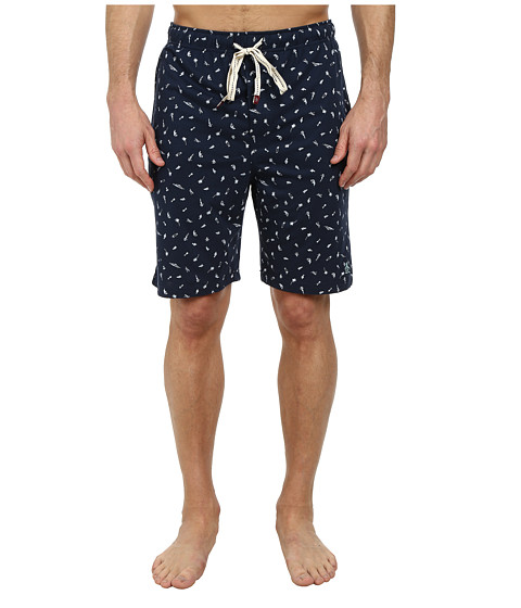 Original Penguin - Sleep Shorts (Navy Ditsy) Men's Pajama