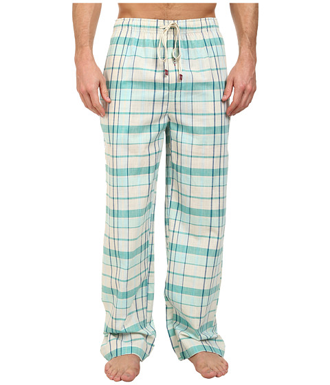 Original Penguin - Woven Pants (Lemon Plaid) Men's Pajama