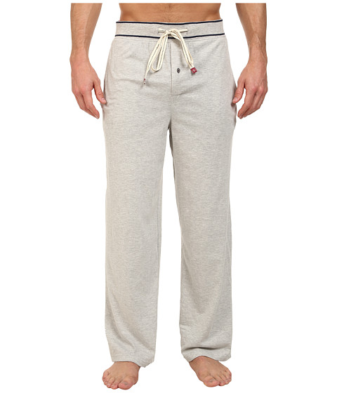Original Penguin - Comfortable Soft Knit Lounge Pants (Grey Heather) Men's Pajama