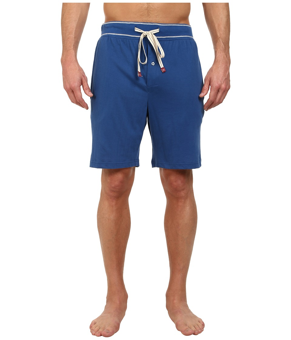 Original Penguin - Comfortable Soft Knit Sleep Shorts (True Blue) Men