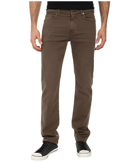 7 For All Mankind - Luxe Performance Slimmy Slim Straight in Twill Colors (Driftwood) Men's Casual Pants