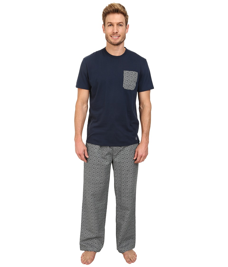 Original Penguin - Pocket Sleep Set (Navy Toss) Men's Pajama Sets