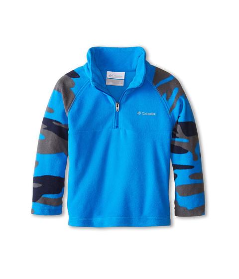 Columbia Kids - Glacial II Print Half Zip (Toddler) (Hyper Blue/Hyper Blue Camo) Boy