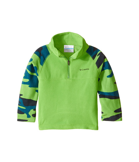 Columbia Kids - Glacial II Print Half Zip (Toddler) (Cyber Green/Camo) Boy
