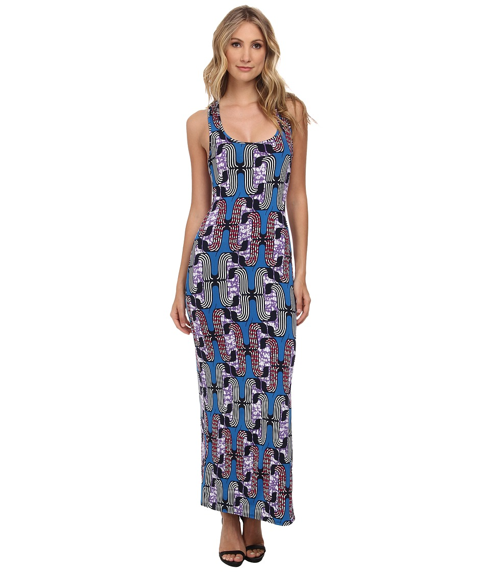 Tbags Los Angeles - Maxi Dress (Blue/Purple/Pink) Women