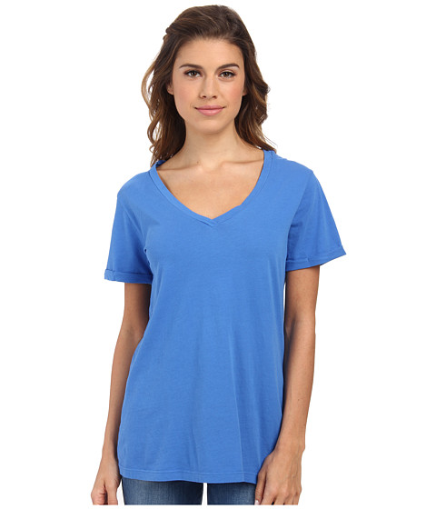 LAmade - Staple V S/S Tee (Azul) Women's T Shirt