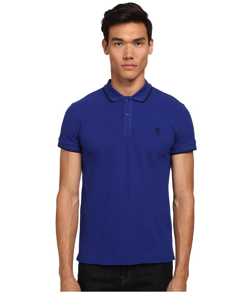 McQ - McQ Logo Polo (Cobalt) Men's Short Sleeve Pullover