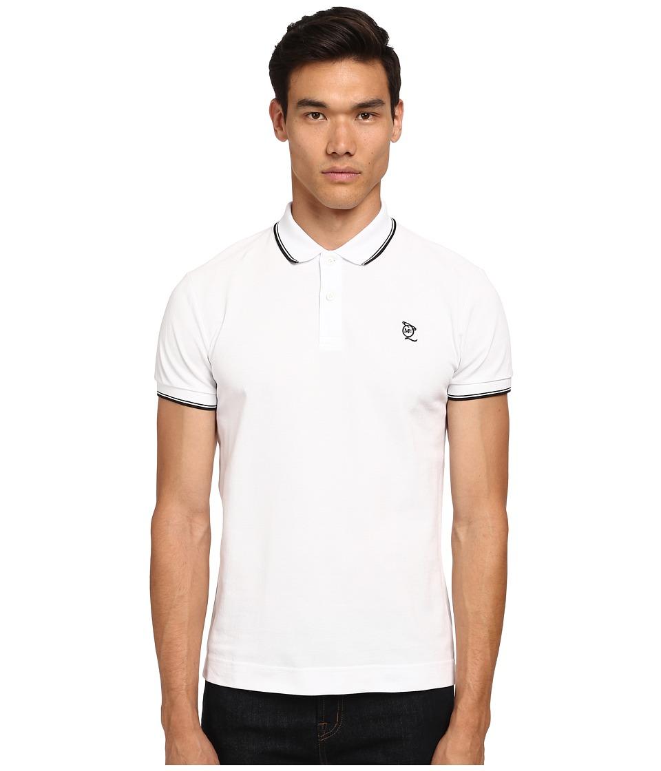 McQ - McQ Logo Polo (Optic White 2) Men's Short Sleeve Pullover
