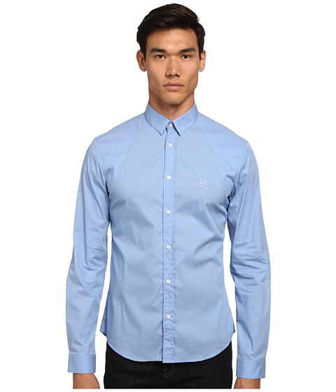 McQ - Harness Long Sleeve Button Up (Storm Blue) Men's Long Sleeve Button Up