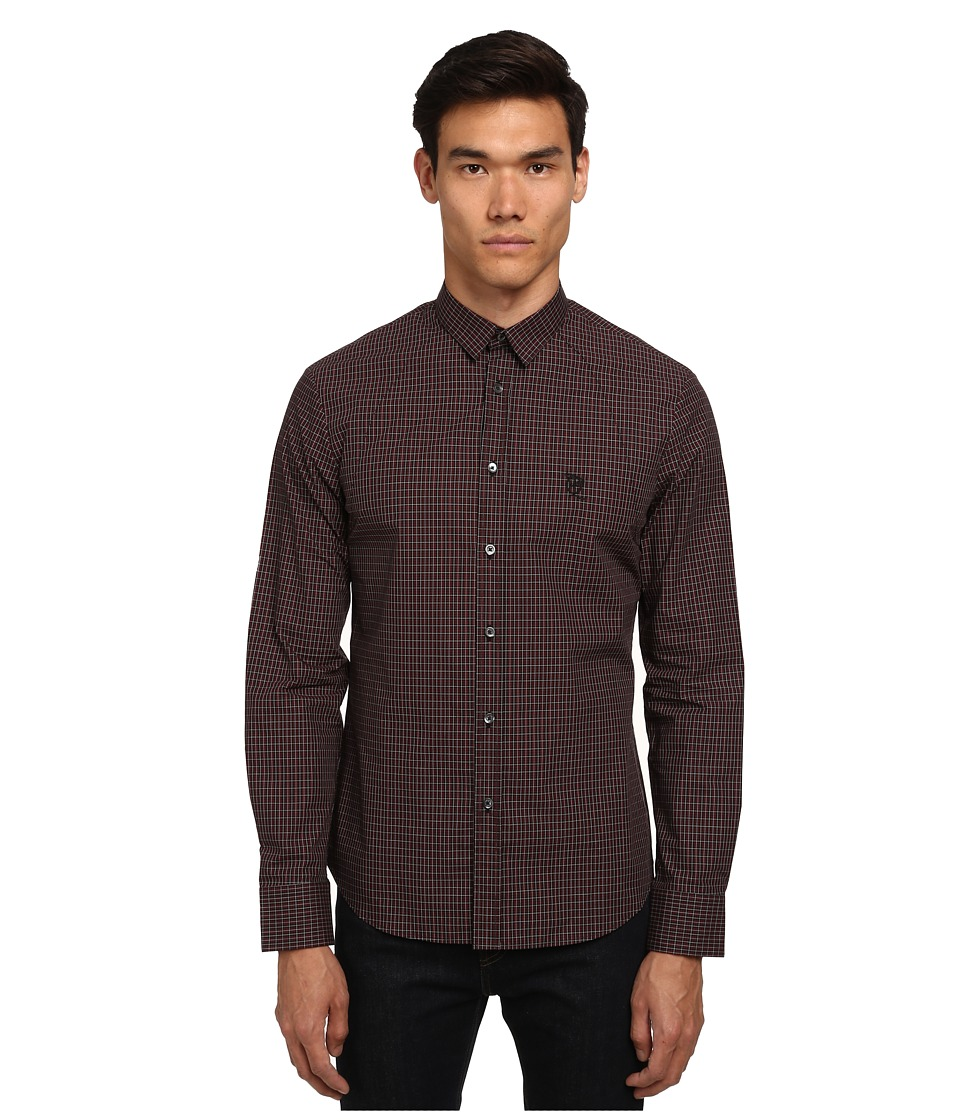 McQ - Harness Long Sleeve Button Up (Darkest Black) Men's Long Sleeve Button Up