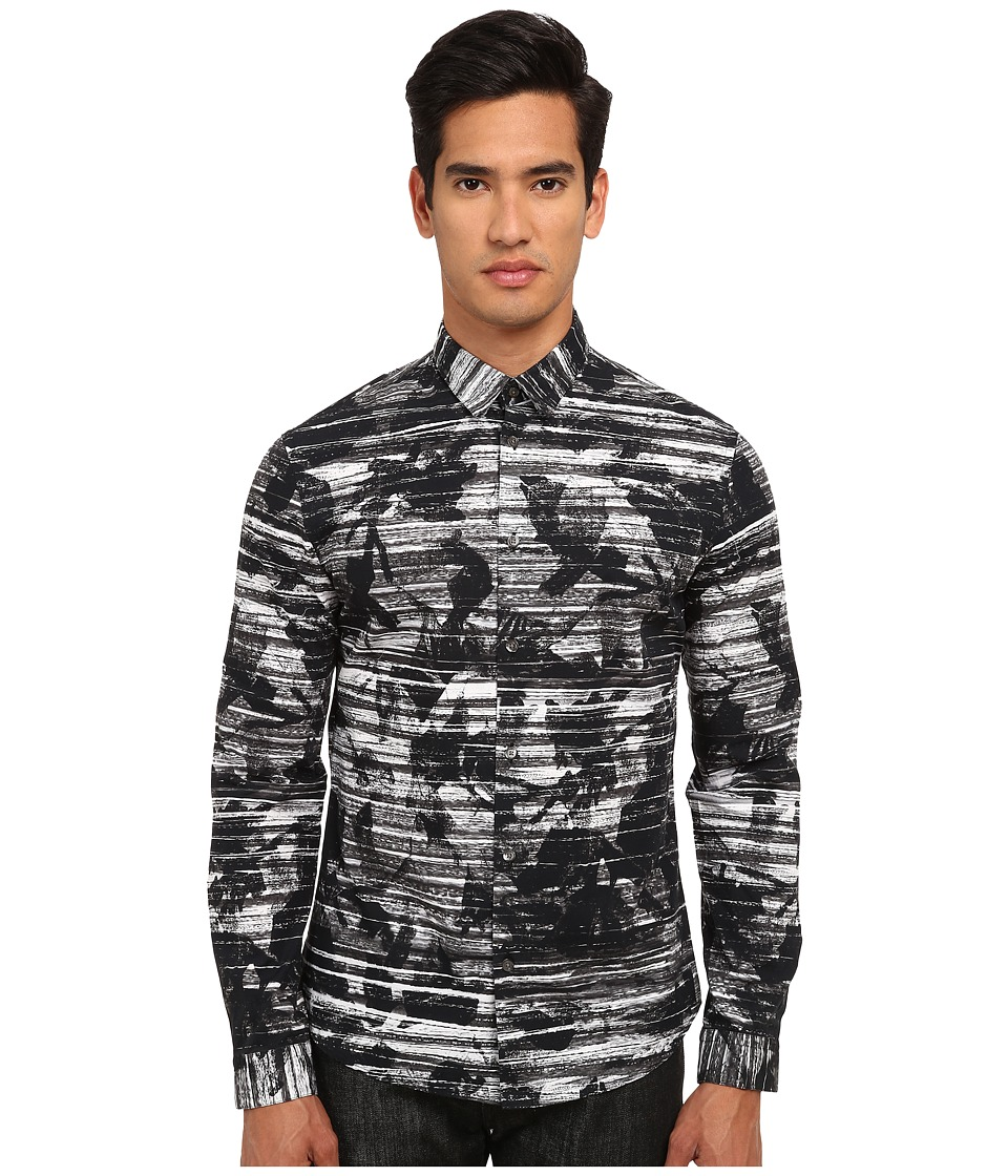 McQ - Googe Long Sleeve Screen Camo Button Up (Multi) Men's Long Sleeve Button Up