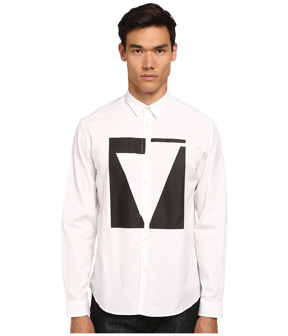 McQ - Sheehan Long Sleeve Button Up (Optic White) Men's Long Sleeve Button Up