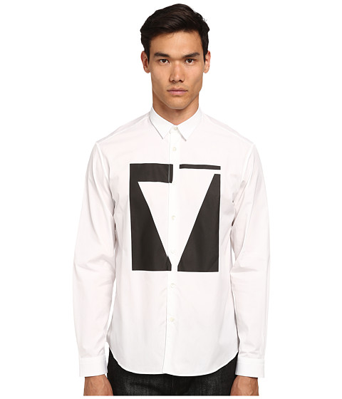 McQ - Sheehan Long Sleeve Button Up (Optic White) Men
