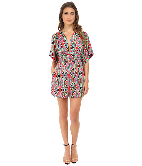 Tbags Los Angeles - V-Neck Romper (Pink/Red/Green) Women