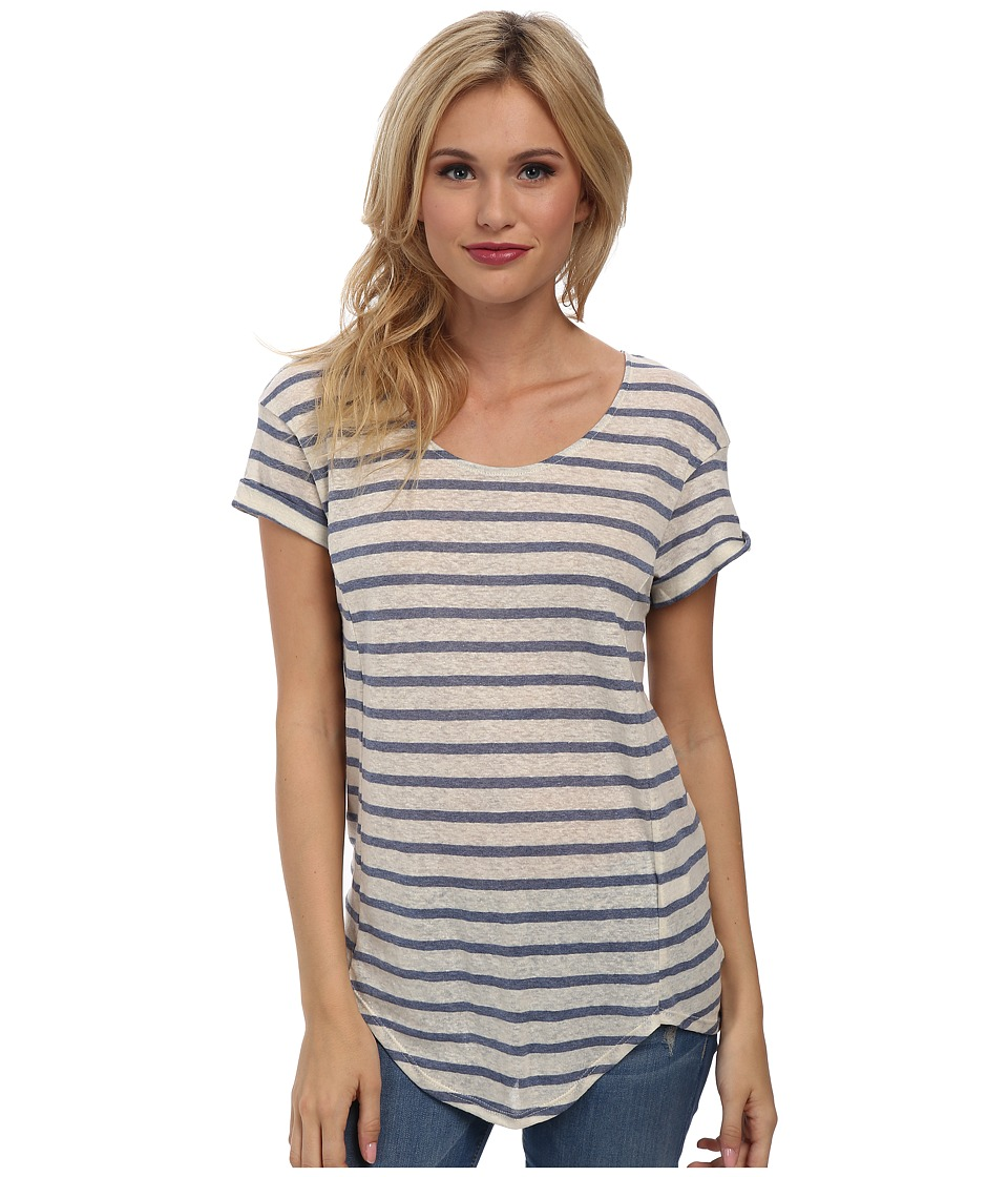 LAmade - Arlo Stripe Tee (Blue/Cream) Women's T Shirt