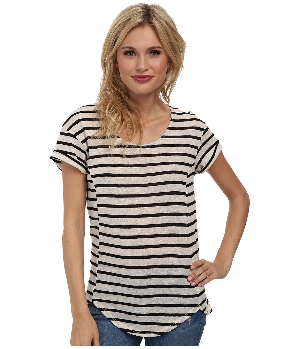 LAmade - Arlo Stripe Tee (Black/Cream) Women's T Shirt