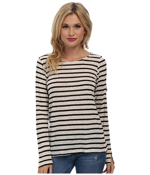 LAmade - Cruz Stripe Top with Arm Vents (Black/Cream) Women