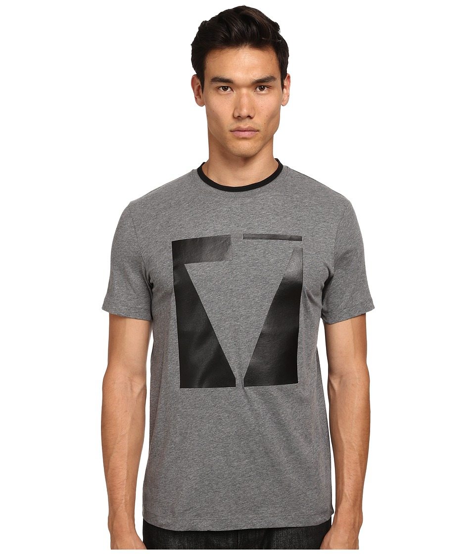 McQ - Short Sleeve Crew Neck T-Shirt (Grey Melange) Men's T Shirt