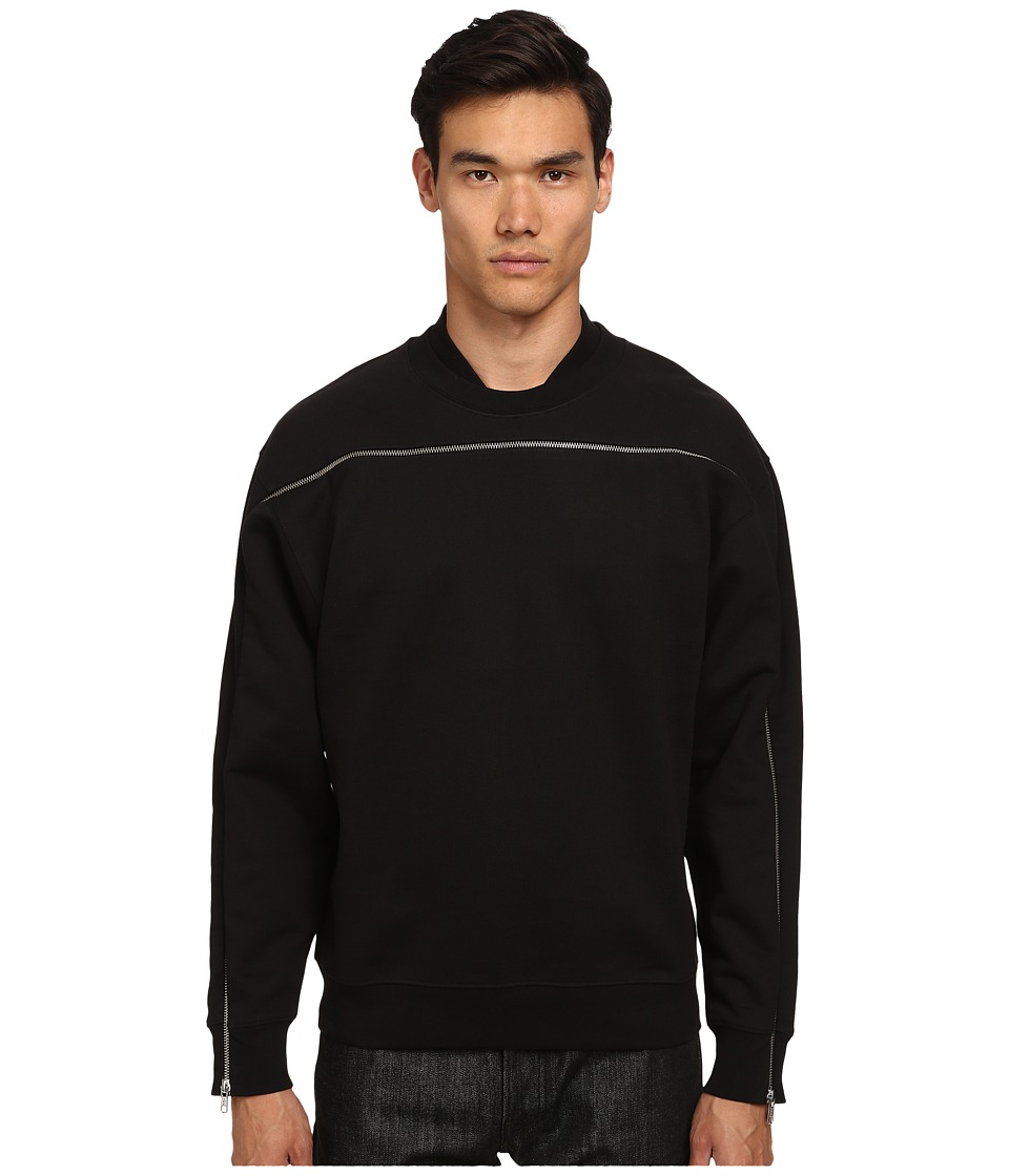 McQ - Single Zip Top Sweatshirt (Darkest Black) Men's Sweatshirt