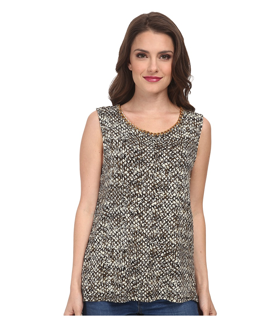 MICHAEL Michael Kors - Petite Banfora Short Sleeve Chain Tank Top (Ecru) Women's Sleeveless