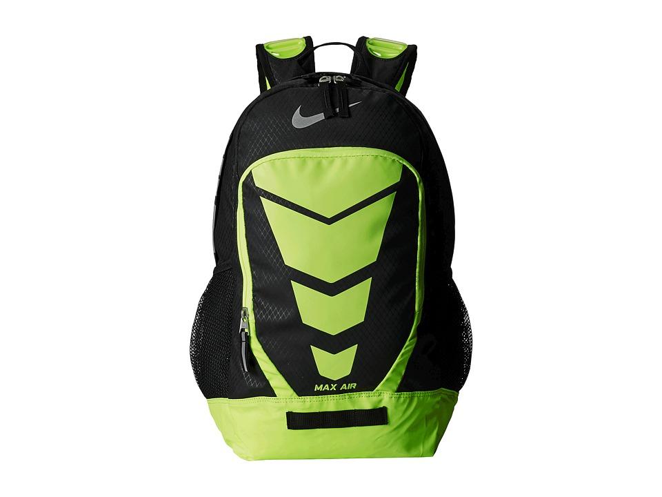 Nike - Max Air Vapor Backpack Large (Black/Volt/Metallic Silver) Backpack Bags