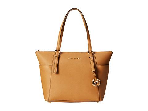 MICHAEL Michael Kors - Jet Set Saffiano Top Zip Tote (Peanut) Tote Handbags