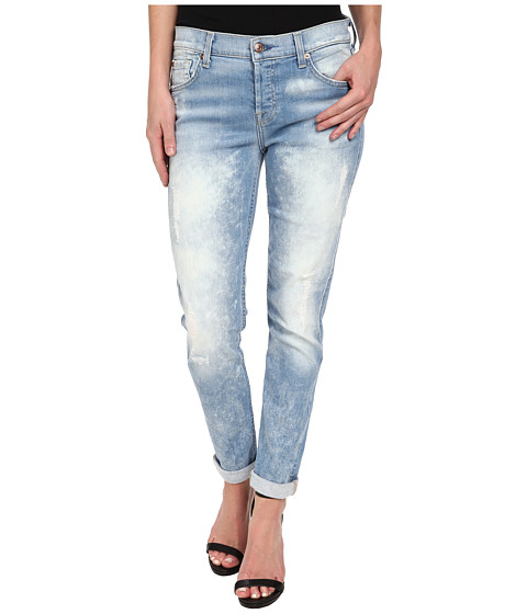 7 For All Mankind - Josefina w/ Destroy Bleach in Light Sky 5 (Light Sky 5) Women's Jeans