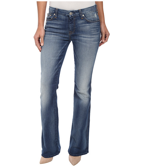 7 For All Mankind - A Pocket in Distressed Authentic Light (Distressed Authentic Light) Women