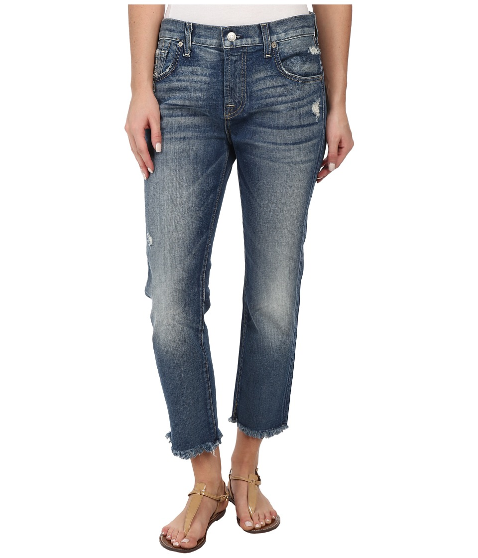 7 For All Mankind - Relaxed Skinny w/ Raw Hem in True Heritage Blue (True Heritage Blue) Women's Jeans