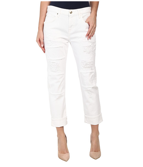 7 For All Mankind - Relaxed Skinny w/ Patches Destroy in White Fashion 2 (White Fashion 2) Women